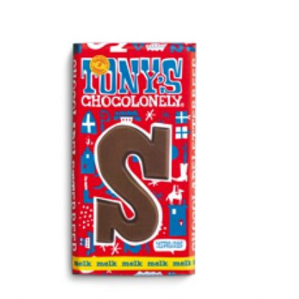 Tony's Chocolonely Chocolade letter